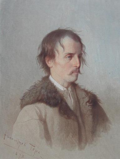 Franciszek TEPA - Drawing-Watercolor - Jeune Paysan des Environs de Brody