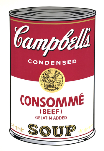 Andy WARHOL - Stampa-Multiplo - Campbell's Soup I: Consommé (FS II.52)