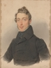 "Josef KRIEHUBER - Drawing-Watercolor - ""Portrait of a Young Aristocrat"", 1833, Watercolor"