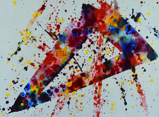 Sam FRANCIS - Painting - Abstract composition SF 76-032