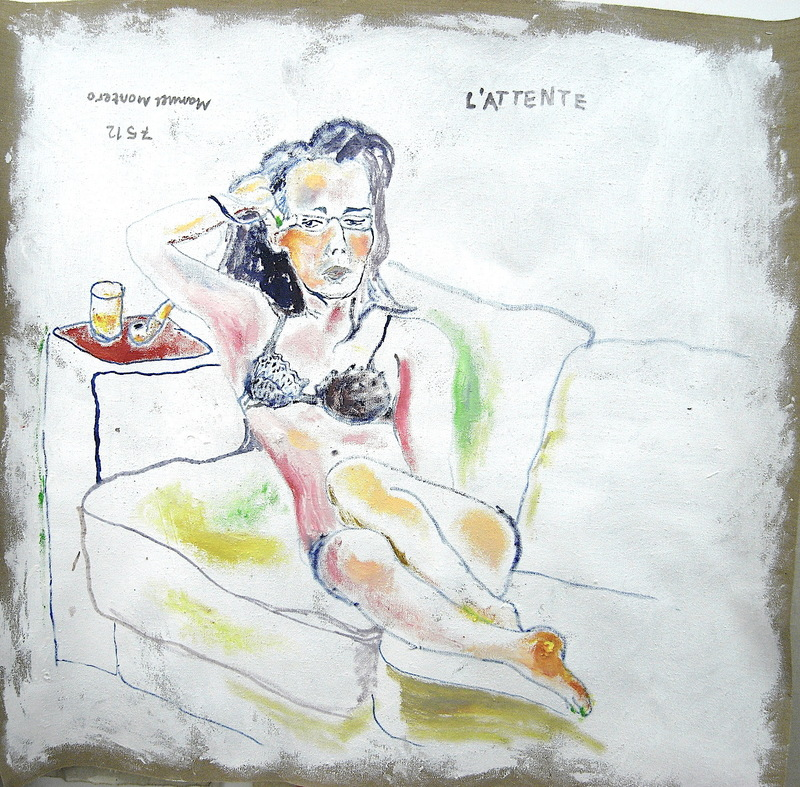 Manuel MONTERO - Peinture - L'attente