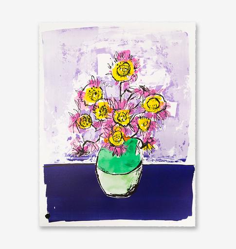 Anthony LISTER - Print-Multiple - Marilyn Van Gogh Sun Flowers HPM (Purple Edition)