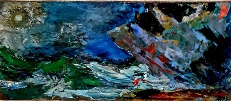 Aligi SASSU - Peinture - Marina con sole nero