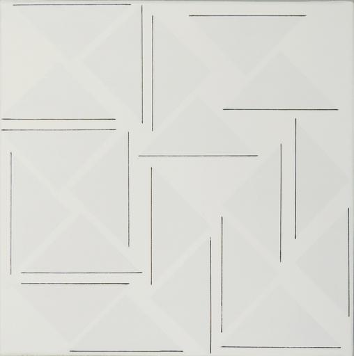 Ode BERTRAND - Painting - Demi-Rose Horizontales Verticales II