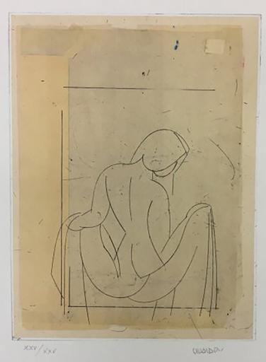 马诺罗·瓦尔代斯 - 版画 - Desnudo I