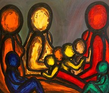 Francesco RUSPOLI - Pintura - Conversation in the Park    (Cat N° 5576)