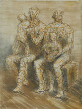 Henry MOORE (1898-1986) - Family Group