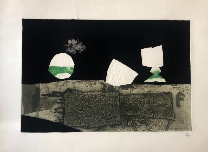 Antoni CLAVÉ - Grabado - Fruit et verre