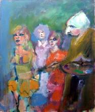 Mino MACCARI - Painting - Pittore e modelle