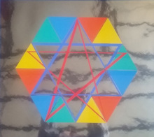 Yaacov AGAM - Estampe-Multiple - Star of David - Abstract Illusionism