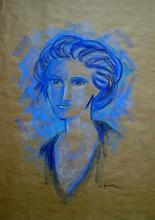 Michel CASTANIER - Zeichnung Aquarell - Dina