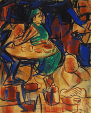 Christian ROHLFS - Painting - In the Cafe | Im Café