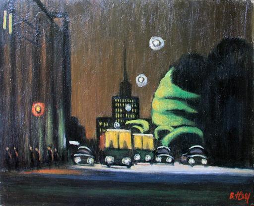 Valeriy NESTEROV - Painting - Lubyanskiy driveway. Moscow