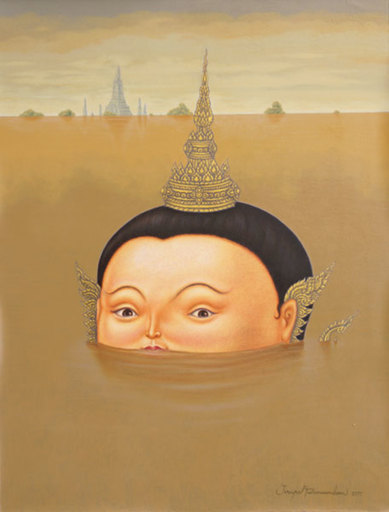 Jirapat TATSANASOMBOON - Painting - I will Survive! (after F. Botero)