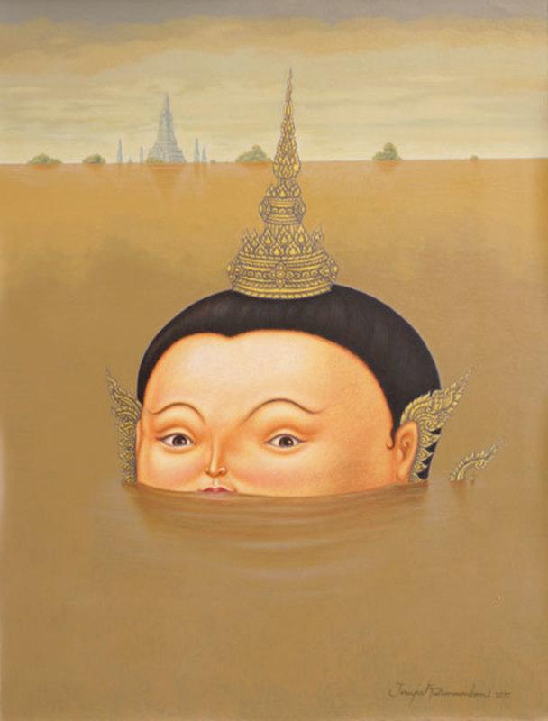 Jirapat TATSANASOMBOON - Painting - I will Survive! (after F. Botero)