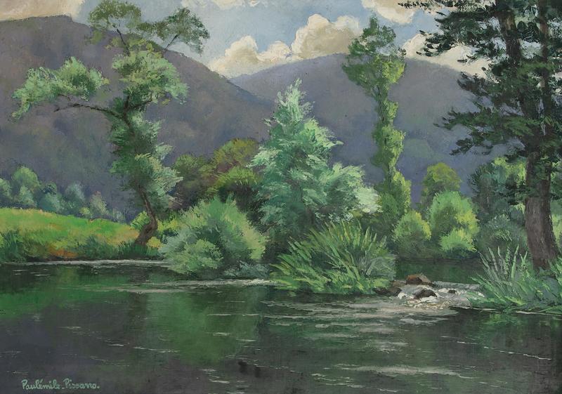 Paul Émile PISSARRO - Painting - Le Coup de Vent