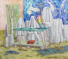 Emilie PICARD - Pintura - BÄTONS ROMPUS