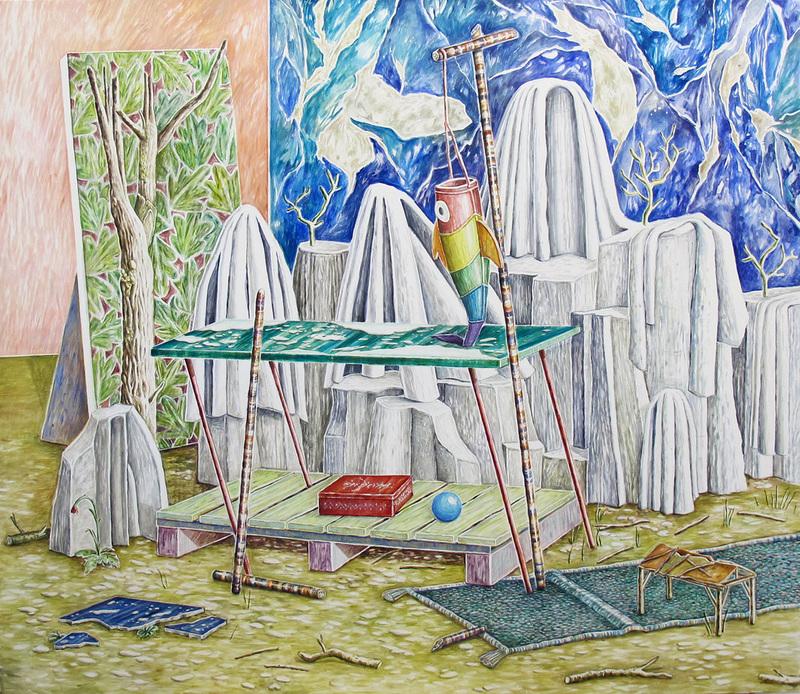 Emilie PICARD - Peinture - BÄTONS ROMPUS