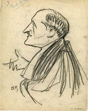 Jacques OCHS - Drawing-Watercolor - La Plaidoirie