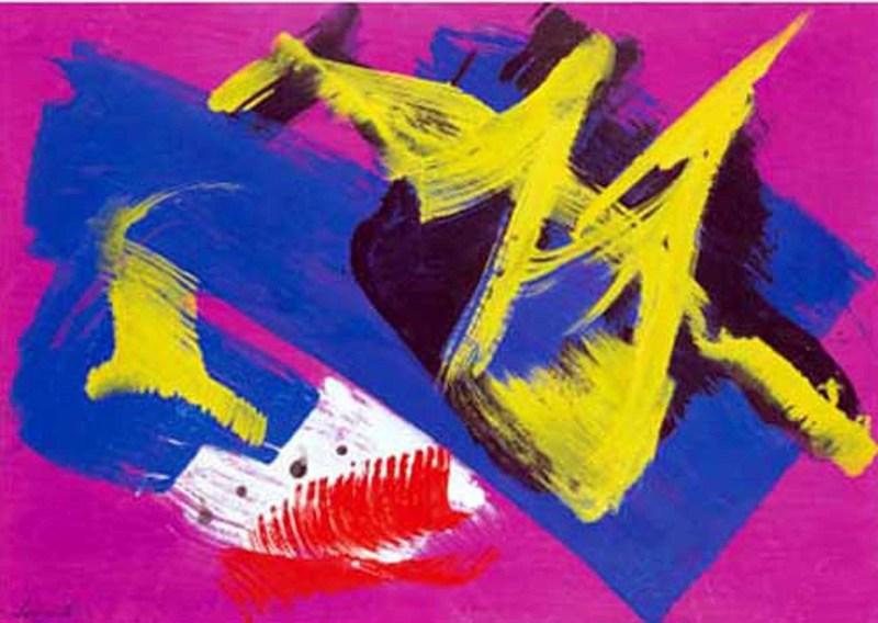 Gérard SCHNEIDER - Painting - Composizione 1970
