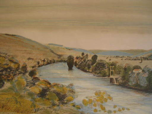 Ferit ISCAN - Estampe-Multiple - La vallée de la Seine,1978.