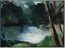 Maurice DE VLAMINCK - Pintura - Bord de l'étang