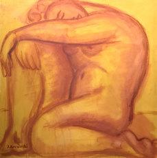 Jan KOVALESKI - Painting - Study for La India