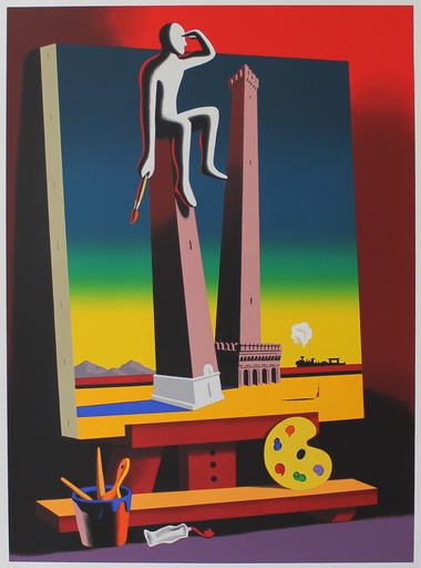 Mark KOSTABI - Stampa-Multiplo - Loophole with a view