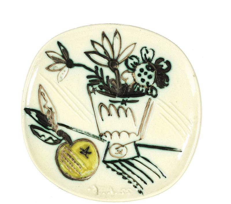 Pablo PICASSO - Ceramiche - Bouquet à la pomme