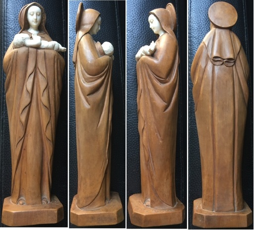Ferdinand PARPAN - Sculpture-Volume - « Vierge à l'enfant » circa 1935
