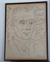 Pablo PICASSO - Print-Multiple - Pablo Picasso Portrait De Frederic Joliot-curie 1959 Lithogr