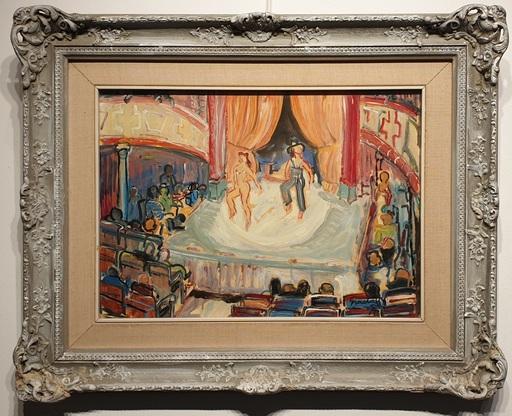 Carlos NADAL - Painting - Interior Teatro