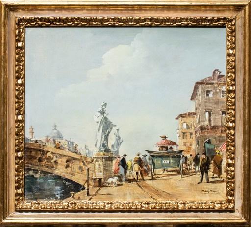 Peter Götz PALLMANN - Gemälde - Santa Trinita bridge in Florence