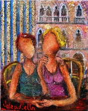 Valerio BETTA - Painting - Amiche o amanti?- Friend or lovers