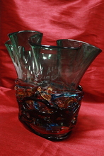 Sergio COSTANTINI - Sculpture-Volume - Gorgeous Multi-colored Murano Glass Vase