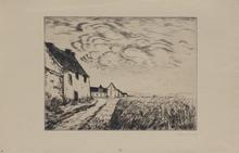莫里斯•德•弗拉芒克 - 版画 -  Le champ de blé (Chateauneuf en Thymerais)