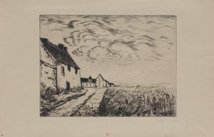 Maurice DE VLAMINCK - Stampa-Multiplo -  Le champ de blé (Chateauneuf en Thymerais)