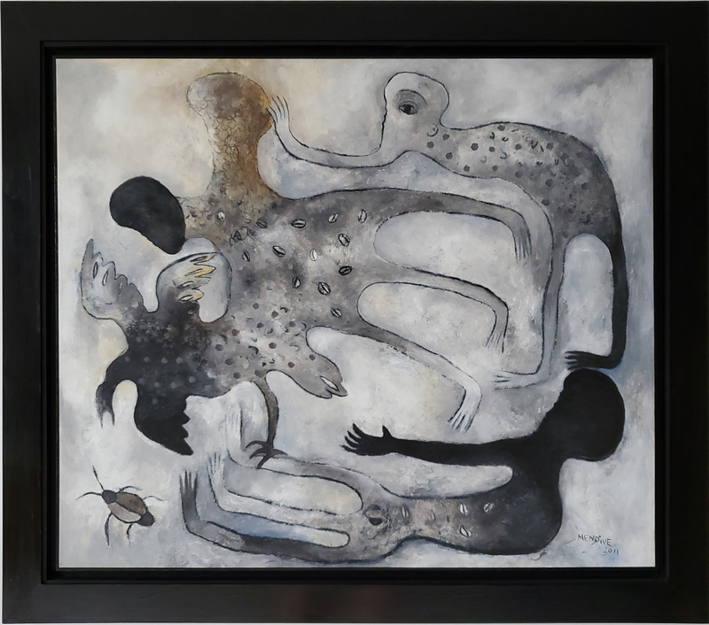 Manuel MENDIVE - Painting - La Luz y Las Tinieblas