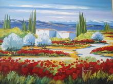 Jean-Louis HONNET - Pintura - Paysage provencal.
