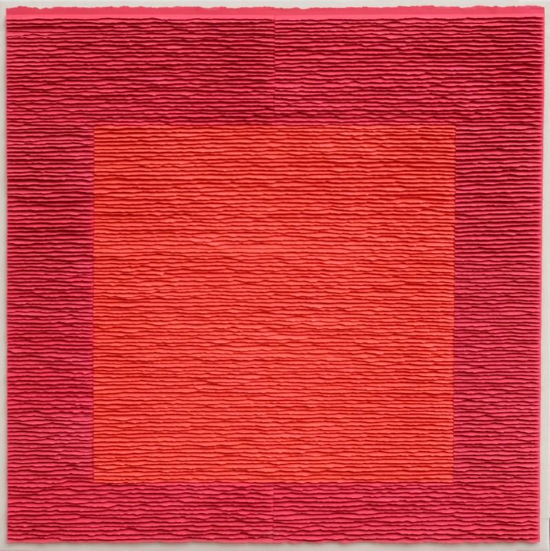 Fernando DAZA - Dibujo Acuarela - Cuadro Rojo sobre Rojo 1