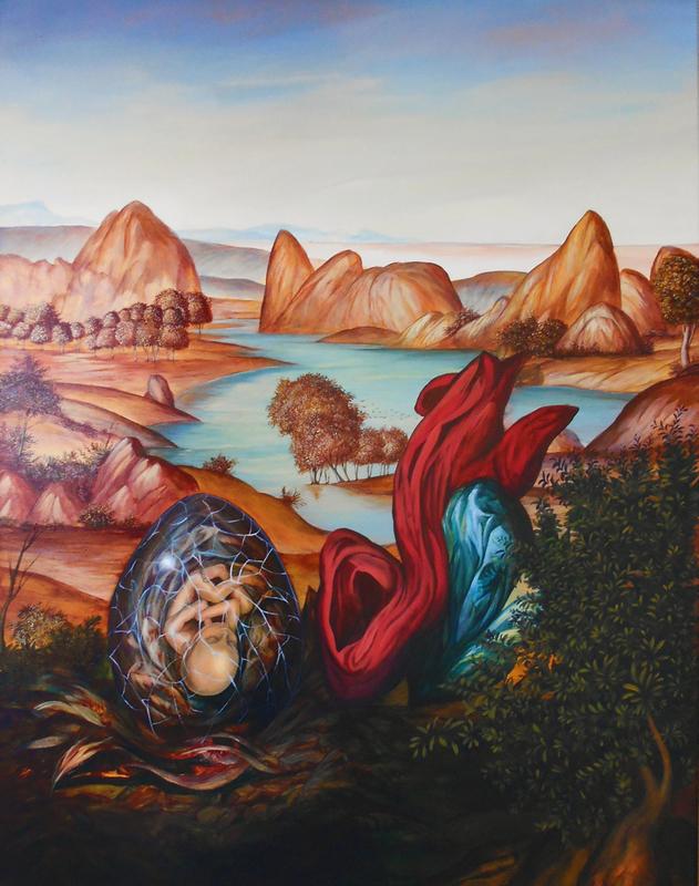 Carlos SABLÓN - Peinture - La Naissance de L'Aigle