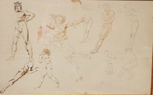 Eugène DELACROIX - Drawing-Watercolor - Etudes