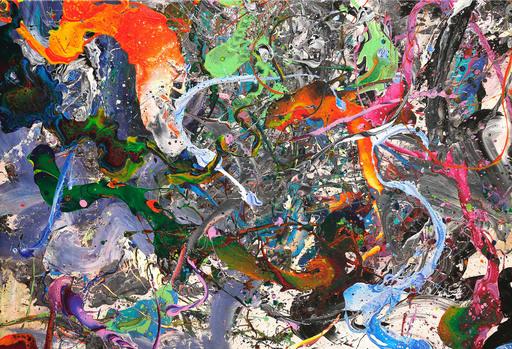 Nikolaos SHIZAS - Gemälde - Koi Fish (Abstract painting)