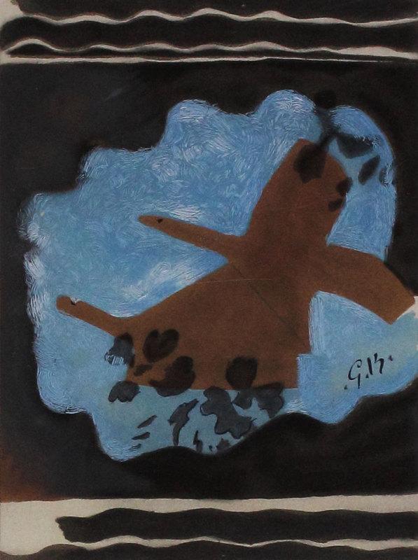 Georges BRAQUE - Estampe-Multiple - Migration