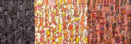 Antonio SEGUI - Painting - Tres espacios