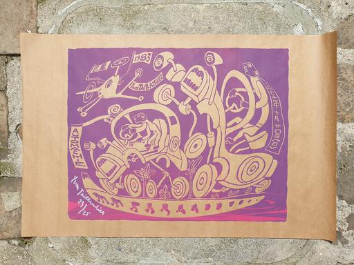 Yvon TAILLANDIER - Druckgrafik-Multiple - Automachie violet
