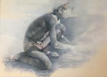 Renzo VESPIGNANI - Drawing-Watercolor - In spiaggia