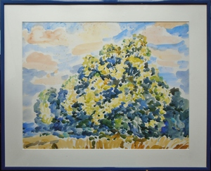 Aimé VALLAT - Drawing-Watercolor - paysages limousins