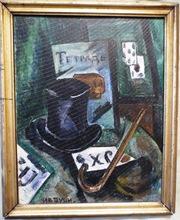 Jean POUGNY - Painting - INTERIOR