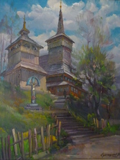 Vasil SVALJAVCIK - Peinture - der Tempel Gottes